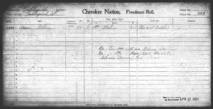 Cherokee Freedman Enrollment Card